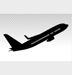 Airplane aeroplane aviation flat icon on a vector