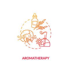 Aromatherapy concept icon vector
