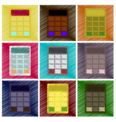 Assembly flat shading style icon economy vector