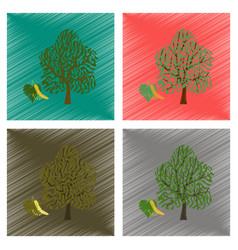 Assembly flat shading style linden vector