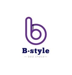 B letter minimalistic logo Abstract vector image vector image
