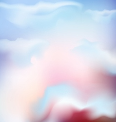 background of the sky with pink clouds vector image vector image