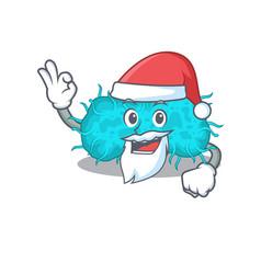 bacteria prokaryote santa cartoon character vector image