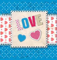 blue romantic multicolored composition vector image