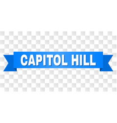 Blue stripe with capitol hill text vector