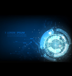 blue technology abstract futuristic cyber vector image