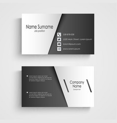 Business card with black and white sticker vector