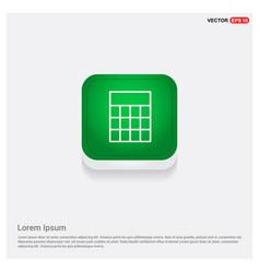 calculator icon green web button vector image