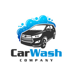 car wash logo design vector image