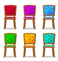 Cartoon colorful wooden chair vector