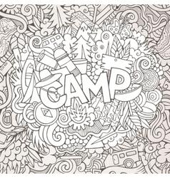 Cartoon sketchy cute doodles hand drawn vector