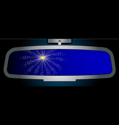 Celebration rear view mirror vector