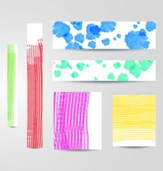 Colorful painted banners set vector image