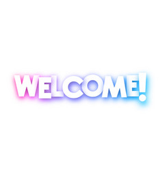 colorful welcome sign on white background vector image