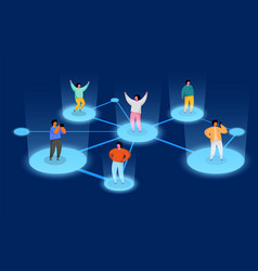 connecting people social network concept refer a vector image