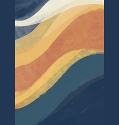 creative minimalist hand painted abstract arts vector image