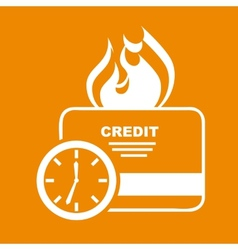 credit time vector image