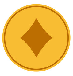 diamonds suit gold coin vector image
