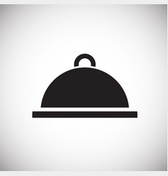 dish with lid on white background vector image