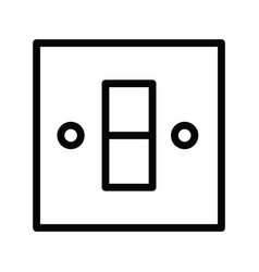 electric plug switch energy icon single isolated vector image