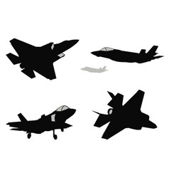 Fighters set vector