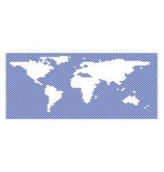 Fish pattern world ocean map vector