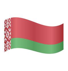 Flag of belarus waving on white background vector