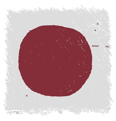 Flag of Japan handmade square shape vector image