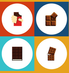 Flat icon bitter set of wrapper cocoa shaped box vector