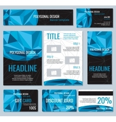 Flyers banners brochures and cards with vector