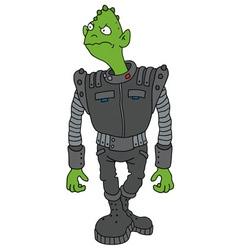 Funny dark alien vector