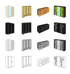 Furniture cabinet door and other web icon in vector