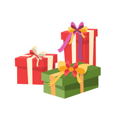 gifts icons christmas shopping containers vector image