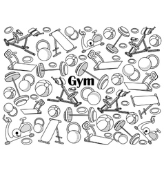 Gym colorless set vector