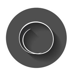 Hand drawn scribble circle element with long vector