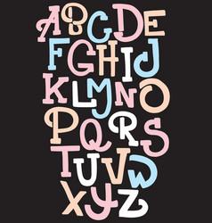Hand drawn trendy font custom handwritten vector