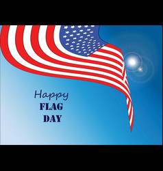 happy flag day 1 vector image