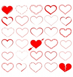 heart design elements vector image vector image