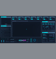 high-tech dashboard in hud style vector image
