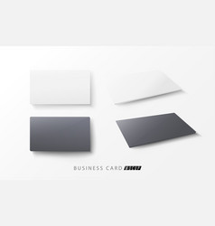 horizontal white and black blank business cards vector image