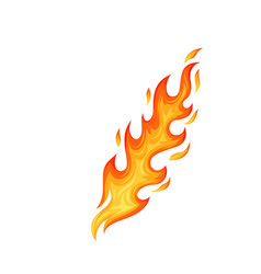 hot flaming element vector image