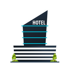 hotel building guest house travel and trip vector image
