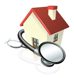house and stethoscope concept vector image