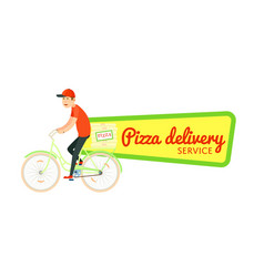 Italian pizza food delivery isolated sticker vector
