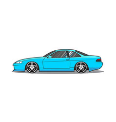 Japan sport car side view vector