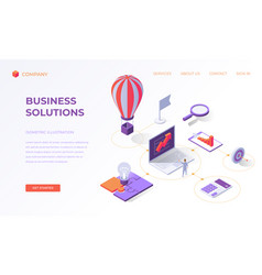 landing page for creative business solutions vector image