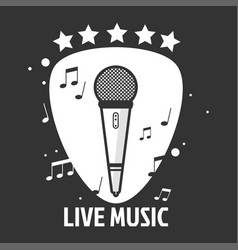 Live music emblem vector