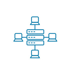 local network linear icon concept local network vector image