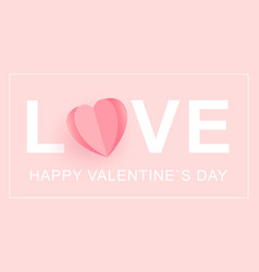 love happy valentine s day card word love with a vector image