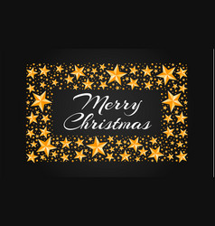 merry christmas holiday stars concept background vector image